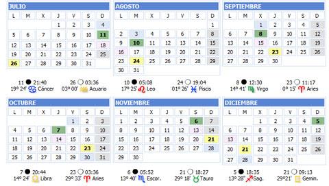 Calendario Lunar 2010 | Hijos de Aradia